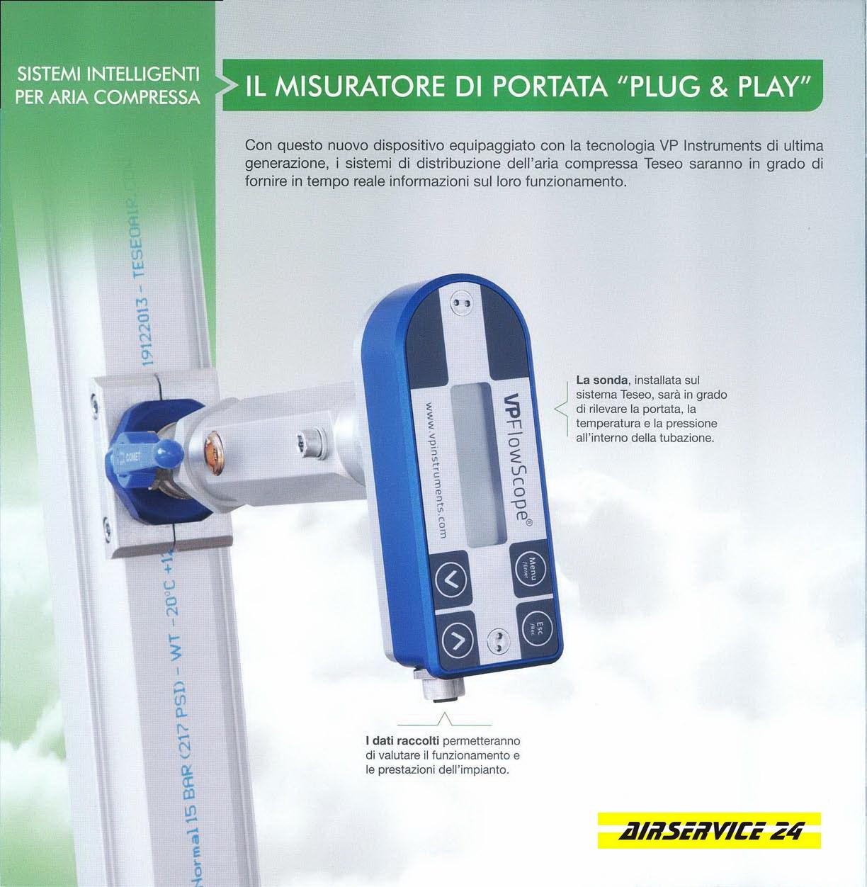 Misuratori di portata aria compressa per impianti teseo - Misuratori di portata per acqua ...